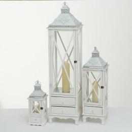 Lantern White Fir Large 27 x 27 x 87cm