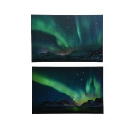 Christmas Canvas Northern Lights Colour Changing 38 x 58cm Fiber Optic