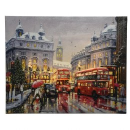 Christmas Canvas London City Winter Scene 38 x 48cm