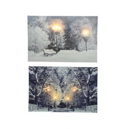 Christmas Canvas Winter Scenery 38 x 58cm