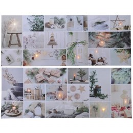 Christmas Canvas Cosy Home Scene 38 x 98cm