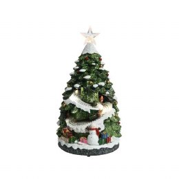 Christmas LED Tree with Train indoor Battery Operated 21.5x20x38cm