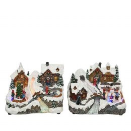 Christmas LED Xmas Villages Battery Operated 24x21x19cm