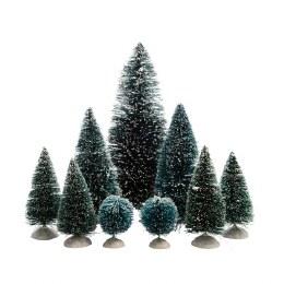 Christmas Village Christmas Pine Tree Pack Assorted