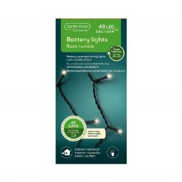 Durawise 48 Warm White Battery Operated Christmas Lights With Multi Function & Timer 3.5m