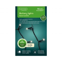 Durawise 96 Warm White Battery Operated Christmas Lights With Multi Function & Timer