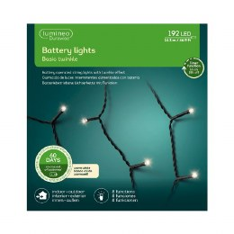 Durawise 192 Warm White Battery Operated Christmas Lights With Multi Function & Timer 14.3m