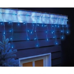 175 Icicle Twinkle Cool White & Blue Lights 7.5m With Timer