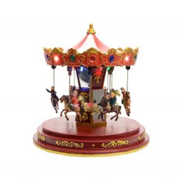 Christmas LED Up-Down Carousel 24x24x24.5cm