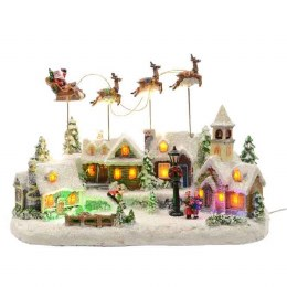 Christmas Village LED House with Moving Deer 36x16x25cm