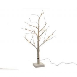 Silver Birch Tree With White Stems 160 Warm White LED Lights 240cm Tall