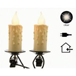 Traditional Christmas Lights Jumbo Candle White 16 Bulbs With 600cm Cable