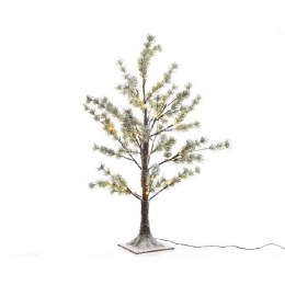 Snow Pine Tree With 150 Warm White LED Lights 210cm Tall