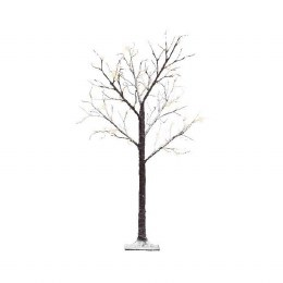 Silver Birch Tree With Snowy Stems With 96 LED Lights 180cm Tall
