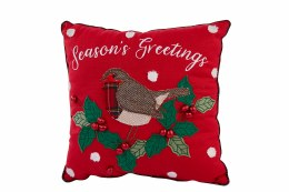 Christmas Cushion with Robin Red 30x30cm