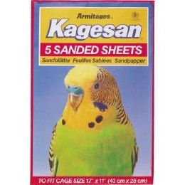 Kagesan Bird Cage Red Sanded Sheets 43x27cm