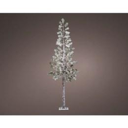 Christmas Snowy Pine Tree Pre Lit 128 Warm White LED 240cm