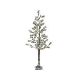 Christmas Snowy Pine Tree Pre Lit 72 Warm White Lights 1.5 Meter tall