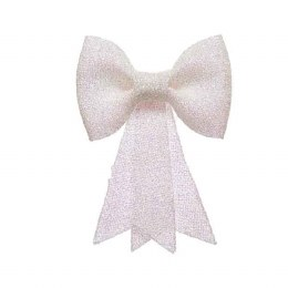 Christmas Bow with Glitter 7x31x40cm