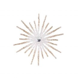 Christmas Decoration Snowflake With Bead 20cm