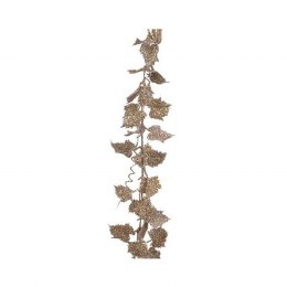 Christmas Garland with Pearl Leaves 10x186cm