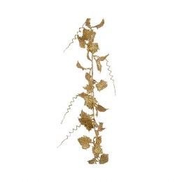 Christmas Garland with Gold Leaves 10x186cm
