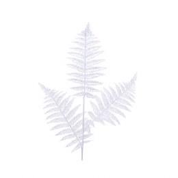 Artificial Fern Leaf Spray White 80cm