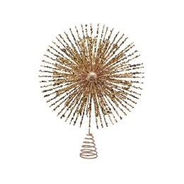 Christmas Tree Topper Gold with Glitter 28cm