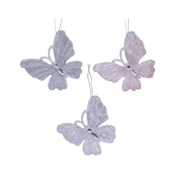 Chirstmas Decoration Butterfly Plastic Glitter