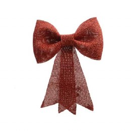 Christmas Bow Red with Glitter 32 x 42cm