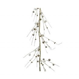 Christmas Garland with Gold Berries 3x13x110cm