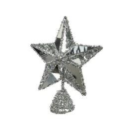 Christmas Tree Topper Silver Star 20cm