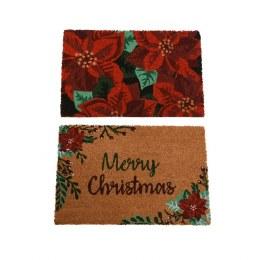 Christmas Doormat 'Flower' or 'Merry Christmas' 40cm x 60cm