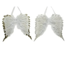 Christmas Decoration Angelic Wings with Natural Feather 100cm