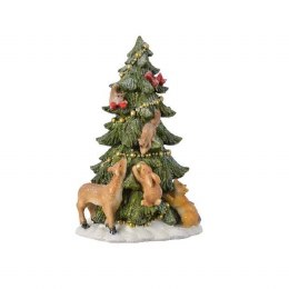 Christmas Tree Scene with Animals 15x17x25cm