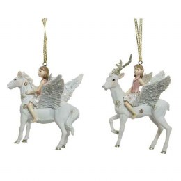 Christmas Decoration Glittery Reindeer and Horse with Fairy