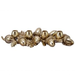 Christmas Candle Holder Gold Acorns 44cm