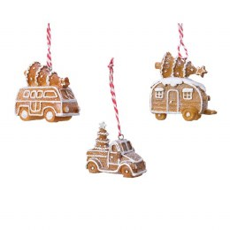 Christmas Decoration Gingerbread Wehicle 7cm