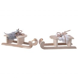 Christmas Decoration Plywood Sledge 15cm