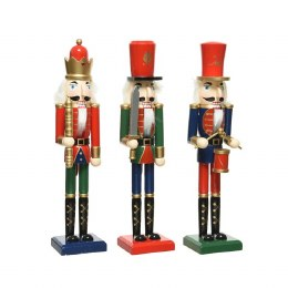 Christmas Nutcracker Soldier Wooden Firwood Traditional Finish 38cm