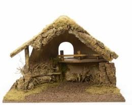 Christmas Nativity Crib With Moss, Bark & Straw 65cm x 38cm x 48cm