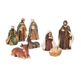 Christmas Nativity Set with 8 Figures 20cm