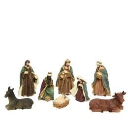 Christmas Nativity Set with 8 Figures 16cm