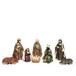 Christmas Nativity Set with 8 Figures 12cm