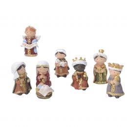 Childrens Christmas Nativity Set with 7 Figures 8cm