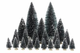 Luville Evergreen Bristle Trees Assorted 21 Pieces 22cm x 8cm