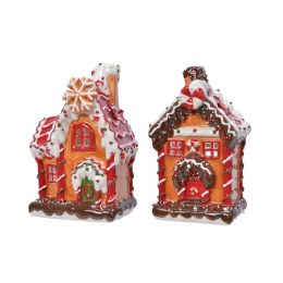 Christmas Cookie Tea Light Cookie House 14 x 11 x 24cm