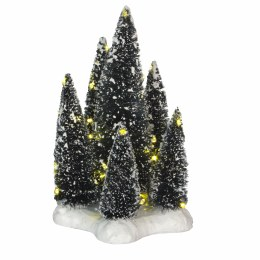 Luville 6 Trees on Base with White Led Light 12cm x 12cm x 19cm