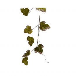 Christmas Garland with Velvet Leaves 120cm