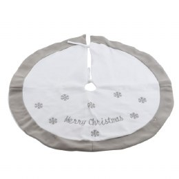 Christmas Tree Skirt White 89cm